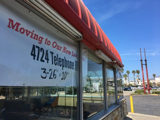 By the afternoon of April 14, 2019, all that remained of the original Arby's sign in Ventura were the poles on which it sat for five decades.