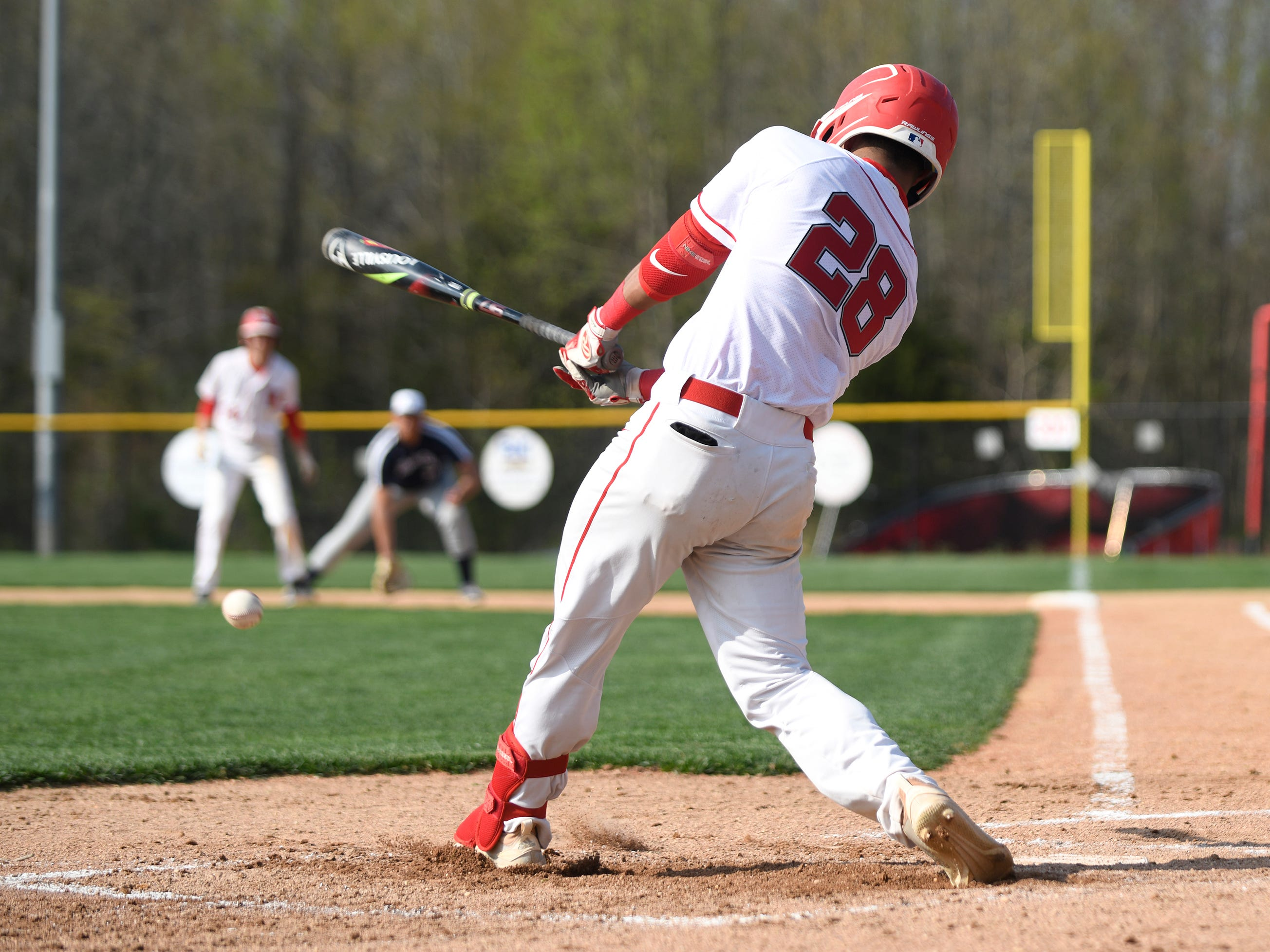 Vineland's Nito Figueroa at bat in a game against visiting Atlantic City on Wednesday. The Fighting Clan topped the Vikings 12-2.