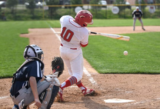 Vineland's Hector Perez at bat in a game against visiting Atlantic City on Wednesday. The Fighting Clan topped the Vikings, 12-2.