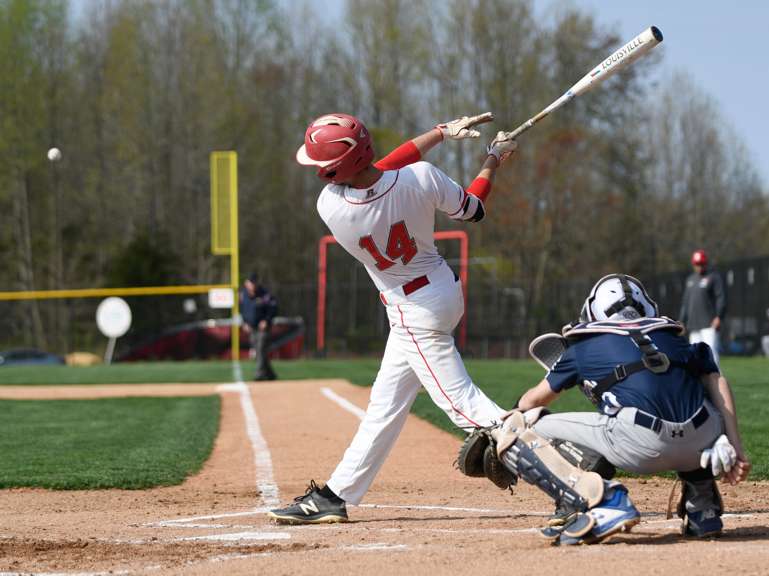 Vineland's David Hunsberger at bat in a game against visiting Atlantic City on Wednesday. The Fighting Clan topped the Vikings 12-2.