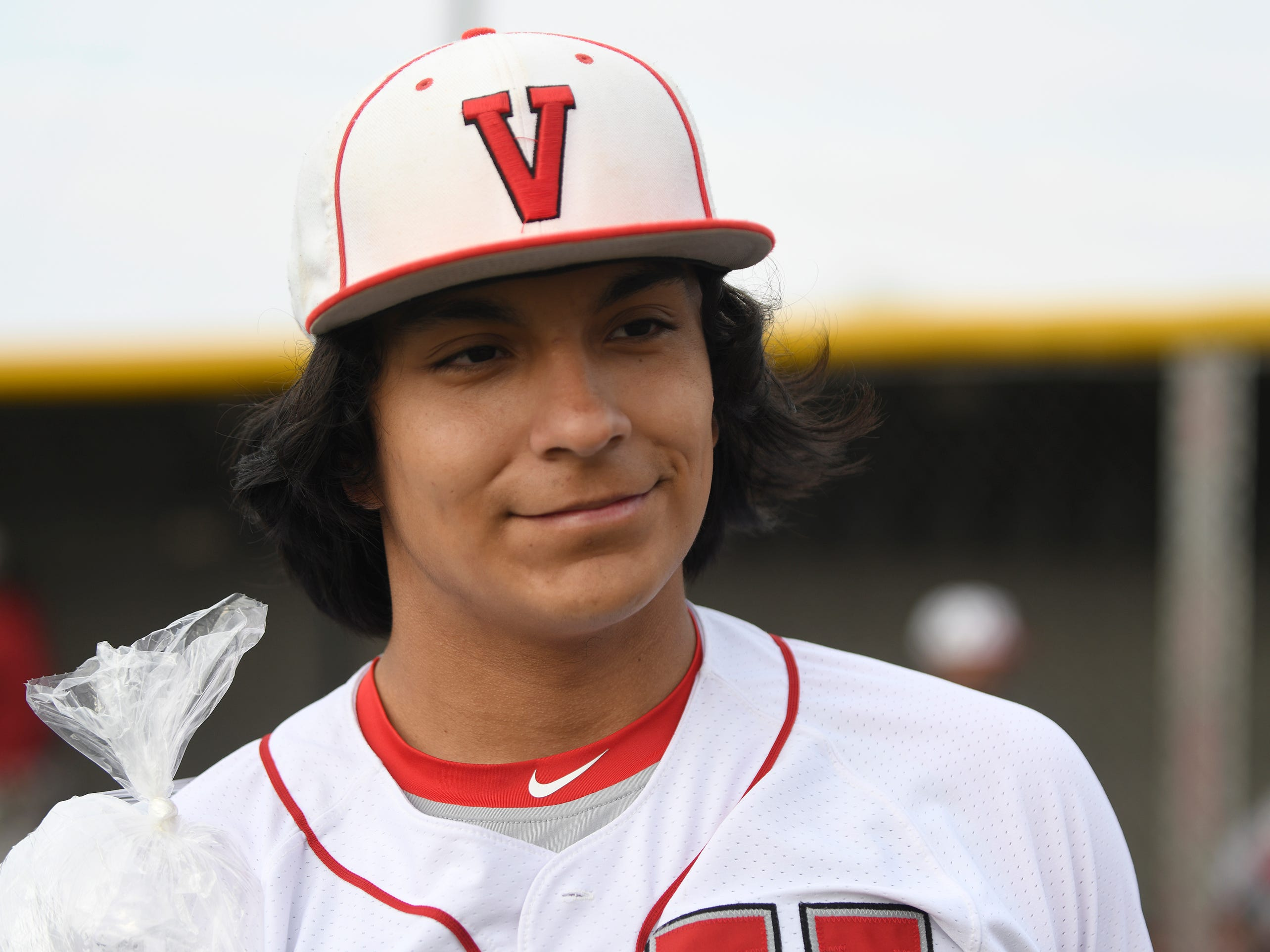 Vineland's Andrew Simone pitched the entire game against Atlantic City on Wednesday. The Fighting Clan topped the Vikings 12-2.