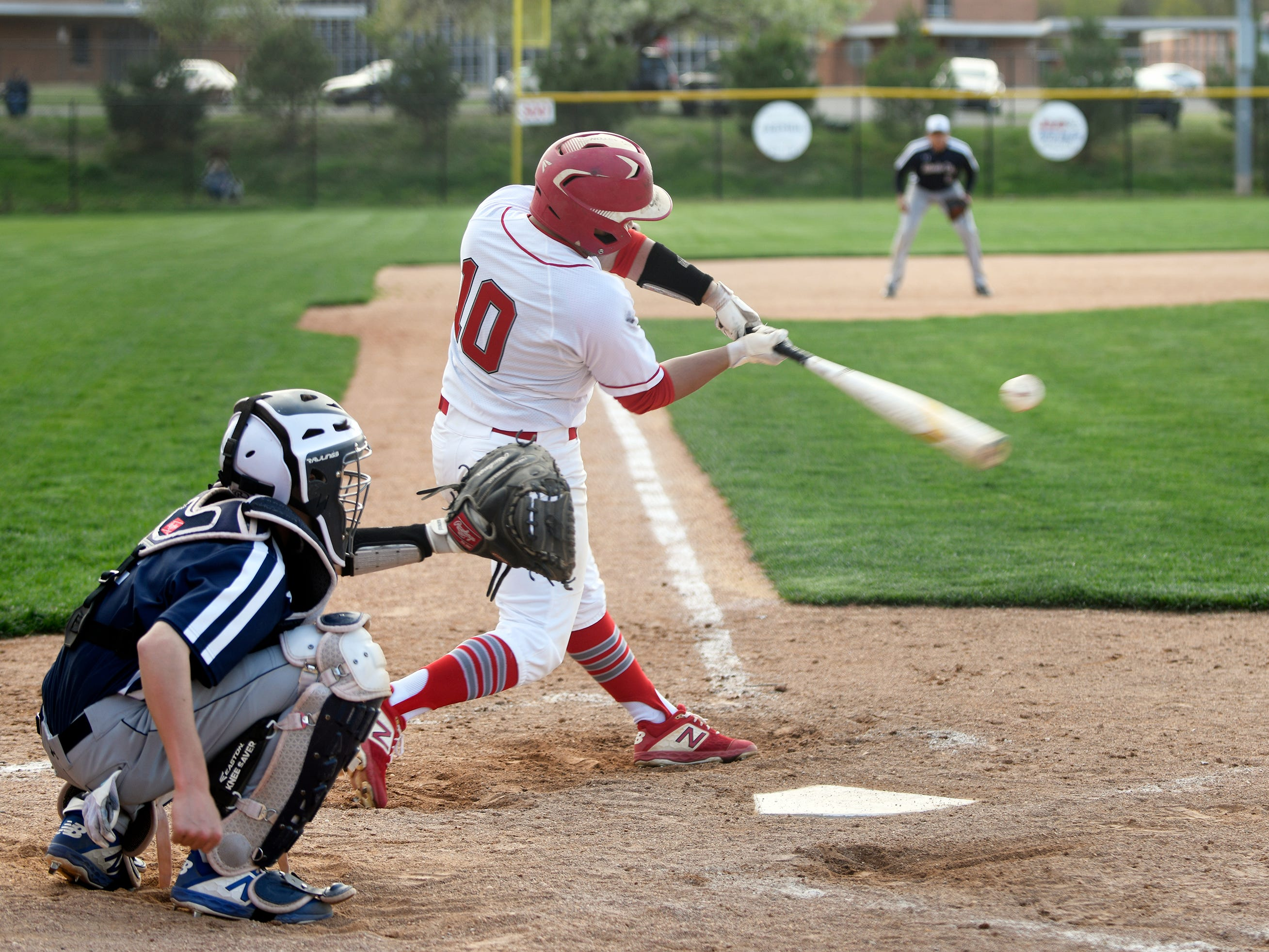 Vineland's Hector Perez at bat in a game against Atlantic City on Wednesday. The Fighting Clan topped the Vikings 12-2.