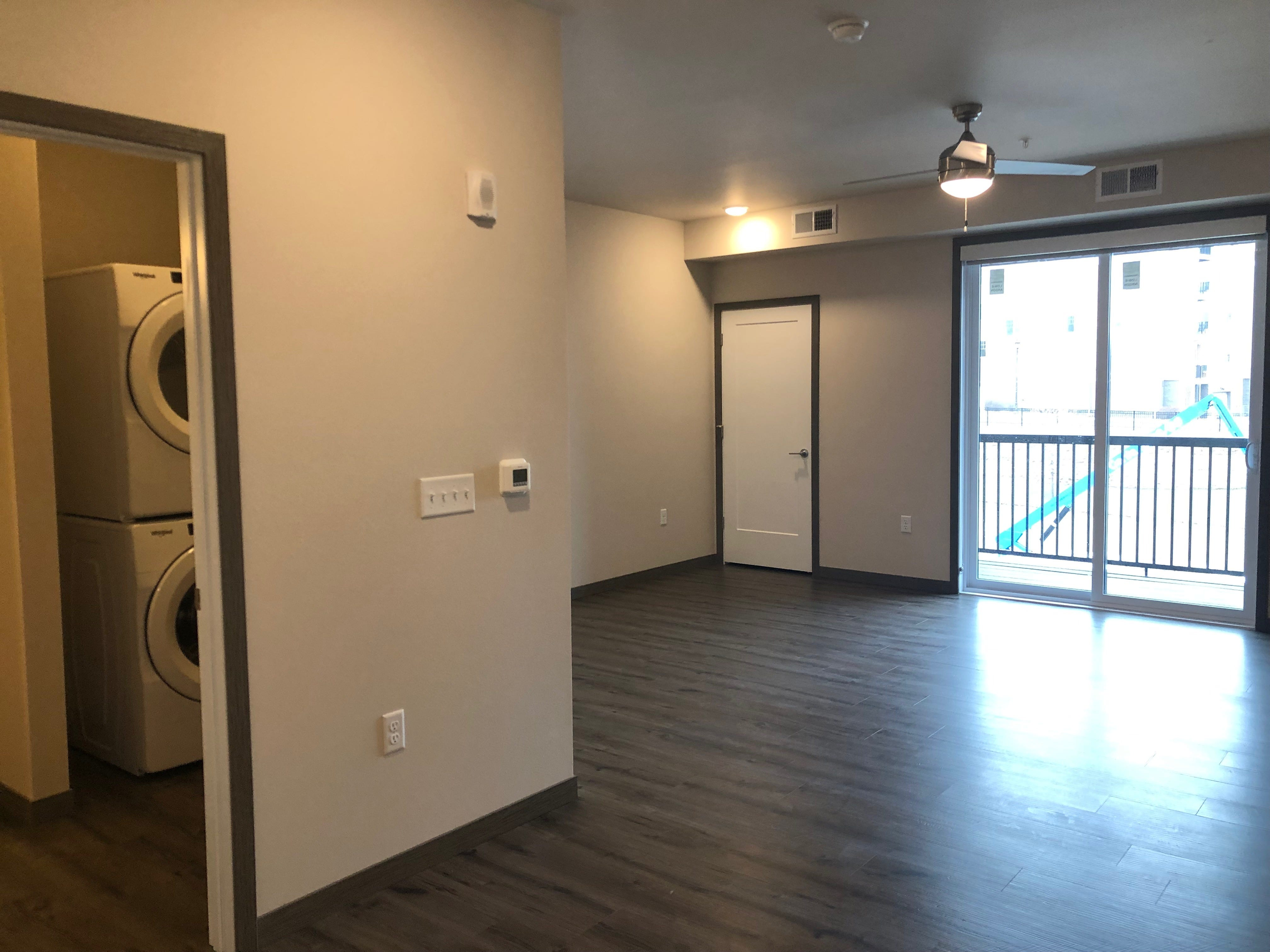 A studio apartment in the Urban West complex.