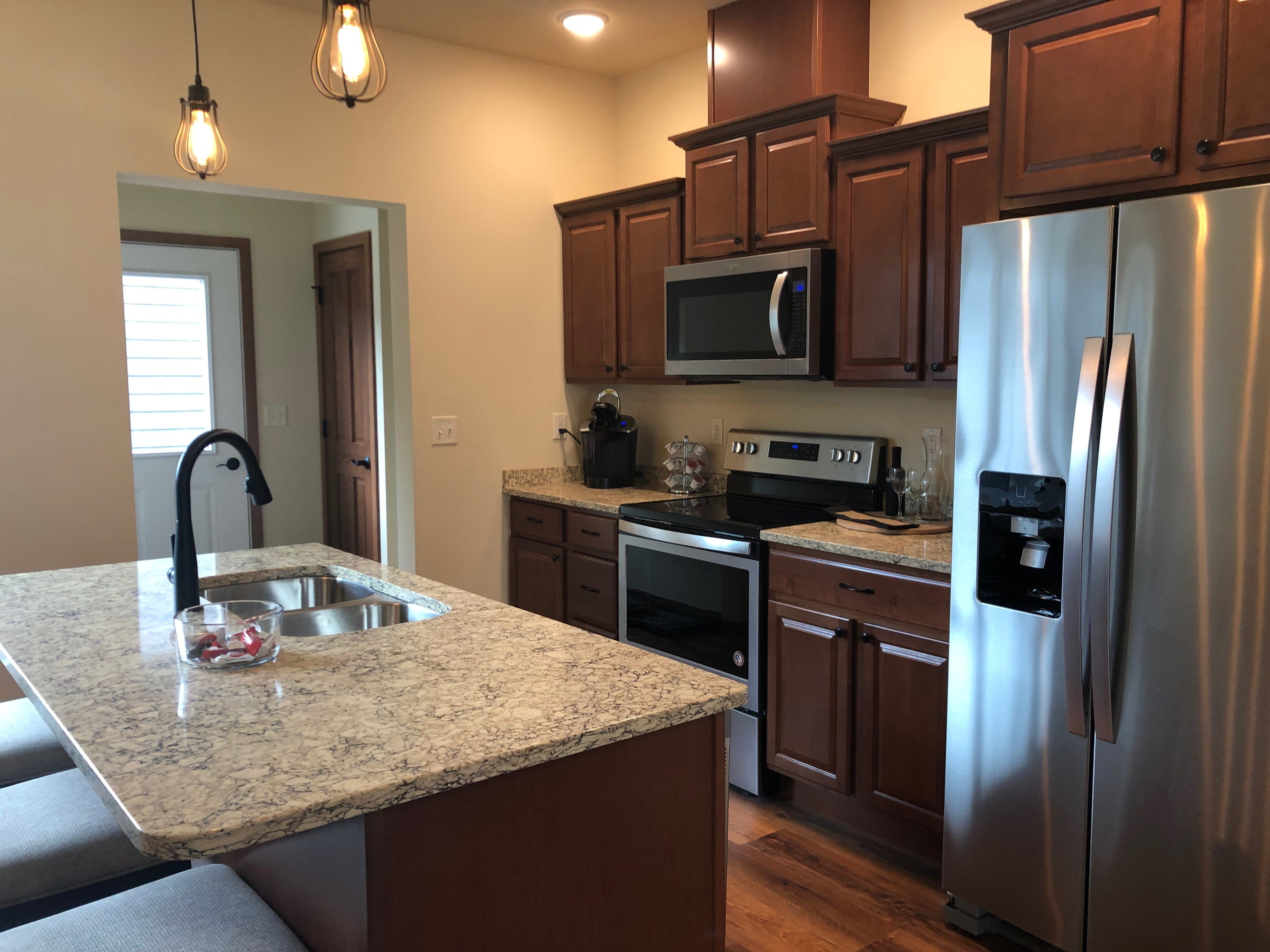 A kitchen in the RIver East Town Homes on Third Street in Wausau.