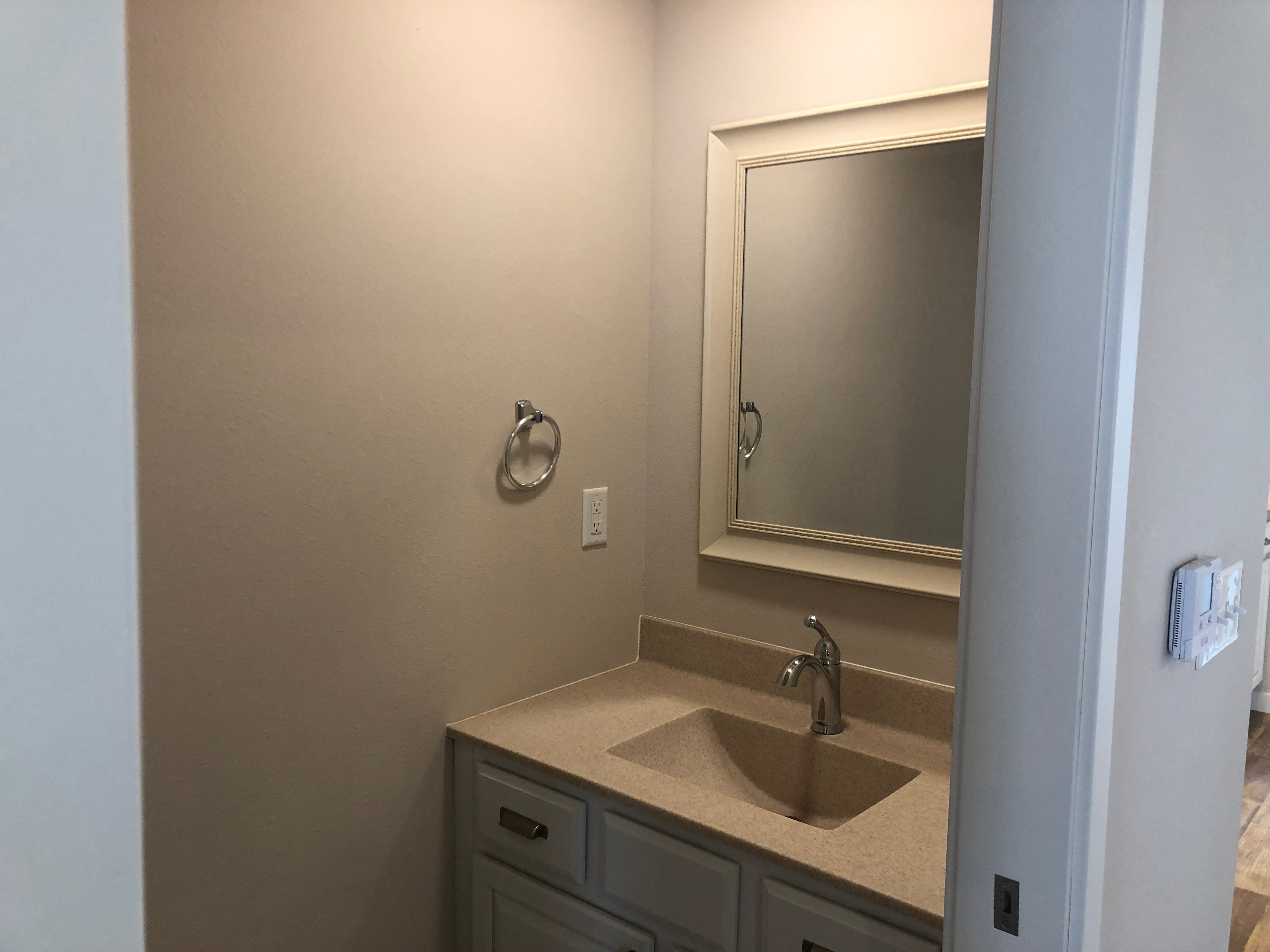 A half-bath in the River East Town Homes in Wausau.