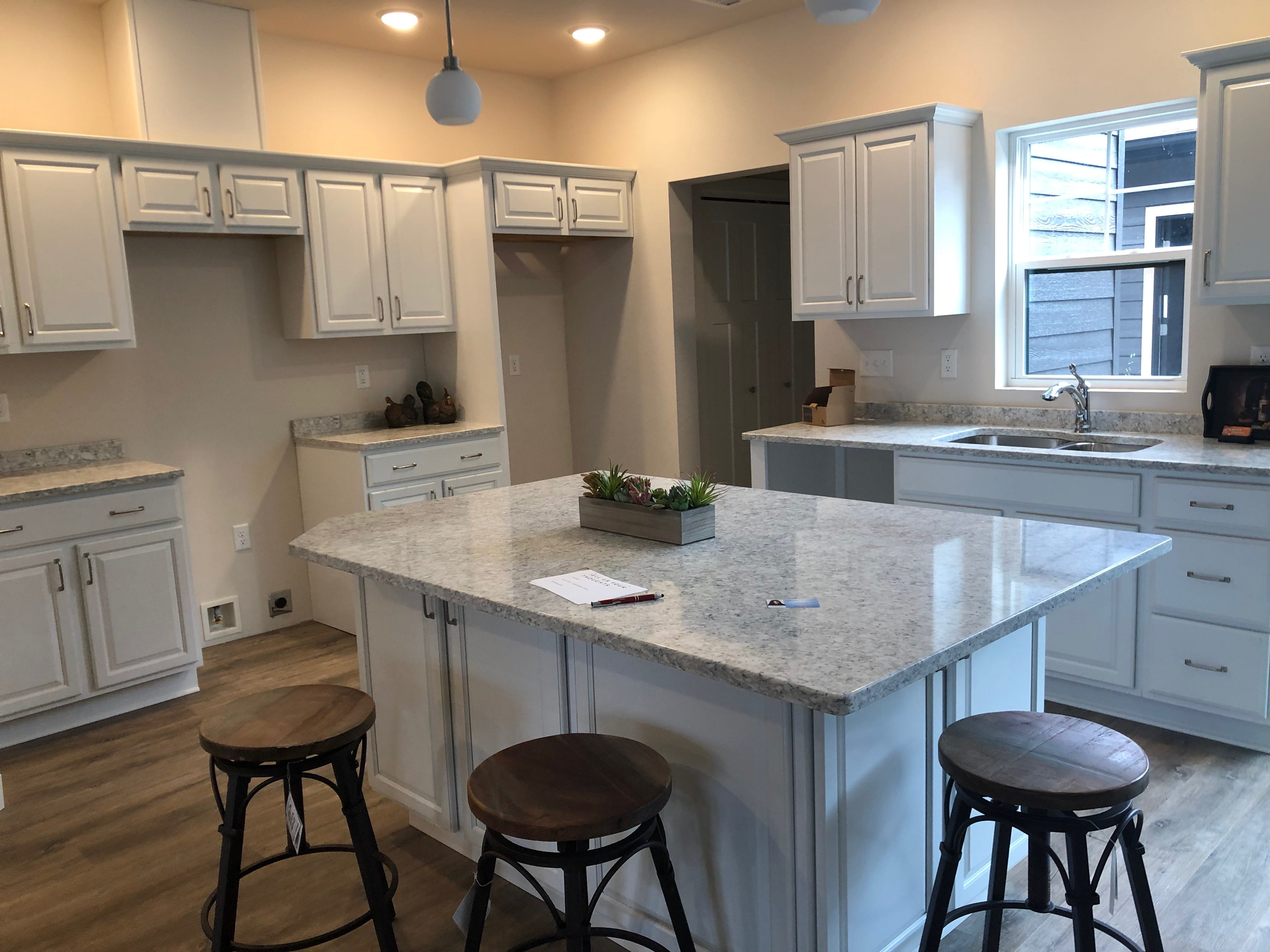 A kitchen in the River East Town Homes in Wausau.