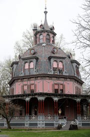 The exterior of the Armour-Stiner (Octagon) House in Irvington, April 18, 2019. This unique home, a house museum on the National Register of Historic Places, is now open to visitors.