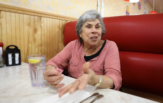 Barbara Schoenberg of Nanuet recalls being at the Nanuet Mall with family early on the day of the robbery and offers comments about the parole of Judith Clark at Hogan's Nyack Diner on Thursday, April 18, 2019.