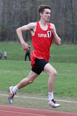 Tappan Zee's Patrick Castellano won the 1600-meter run at the Red Raider Relays at North Rockland April 18, 2019.