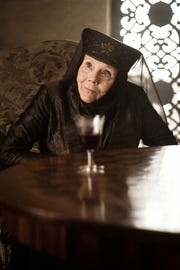 """Lady Olenna of House Tyrell, played by Diana Rigg, in Highgarden in """"Game of Thrones."""""""