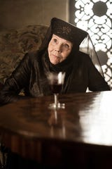 "Lady Olenna of House Tyrell, played by Diana Rigg, in Highgarden in ""Game of Thrones."""