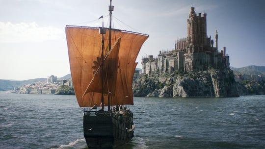 "A Dornish ship sales for King's Landing in ""Game of Thrones."""