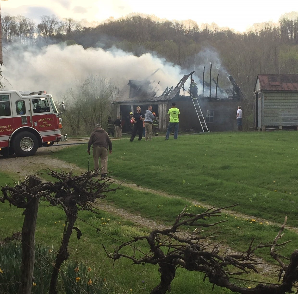 Thursday morning fire destroys barn