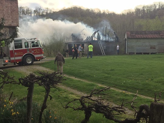Wayne and Harrison township fire departments, along with South Zanesville, were dispatched to barn fire around 8:15 a.m. Thursday, along South River Road. The barn, which appeared to be empty, was a total loss. It is unclear at this point what caused the fire.