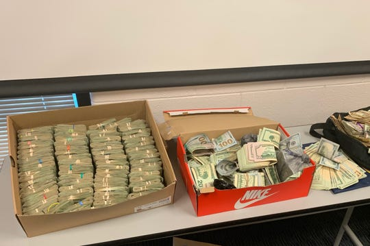 More than $160,000 in cash was seized from a Dresden home during one of the area's largest drug raids Monday.
