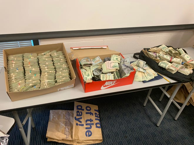 Fifty pounds of marijuana, five pounds of meth and $160,000 were part of a drug bust by the CODE Task Force earlier this year.
