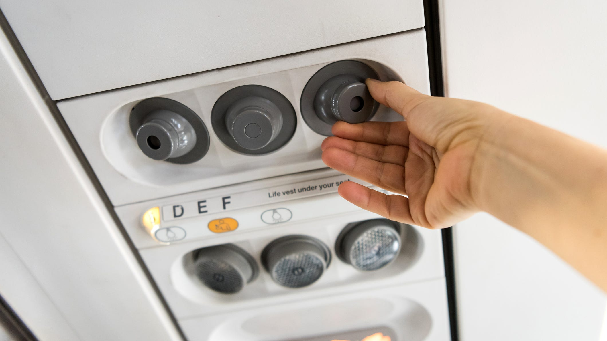 In most airplanes, air is compressed by the engines, cooled by the air conditioning system and then sent to the cabin.