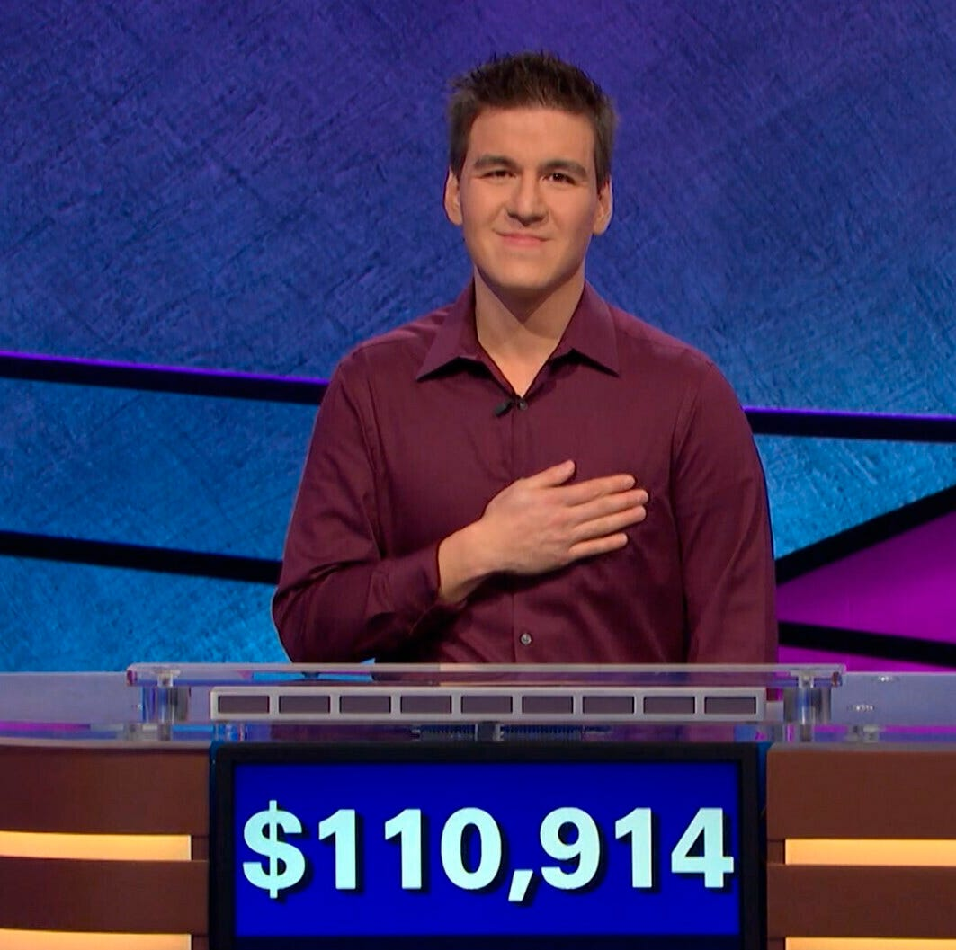 'Jeopardy!' all-star James Holzhauer gets kudos from past record-setting game contestant