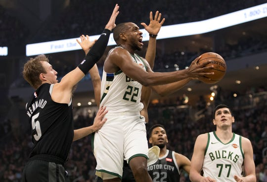 a8ae533e4aadb NBA playoffs  Bucks rout Pistons in Game 2 behind Eric Bledsoe