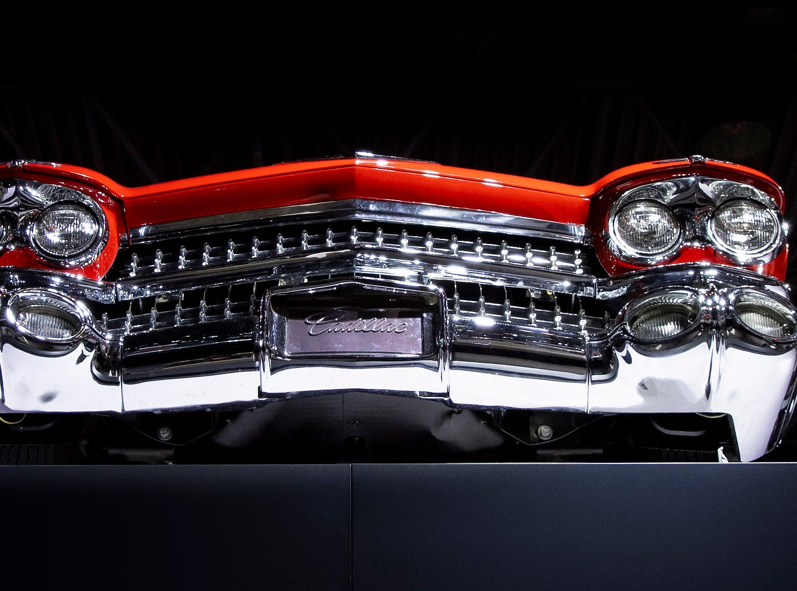 1959 Eldorado Biarritz convertible on display.