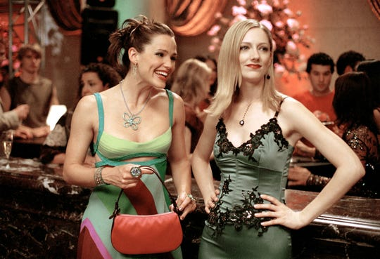 Judy Greer, right, plays Jenna's childhood bully-turned-fake best friend.