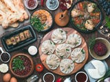 In no other tradition is the spirit and bounty of Georgia so nearly presented as in the Georgian dinner party.