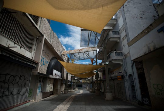 The Paseo de Diego sits empty in San Juan, Puerto Rico, on April 17, 2019. New Census Bureau data shows that Puerto Rico lost nearly 4% of its population after Hurricane Maria, the greatest population drop in the recorded history of the island, according to one demographer.