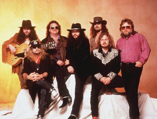 Members of Southern rock band Lynyrd Skynyrd in 1988.