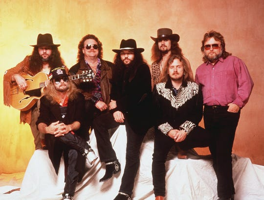 Members of Southern rock band Lynyrd Skynyrd in 1988.