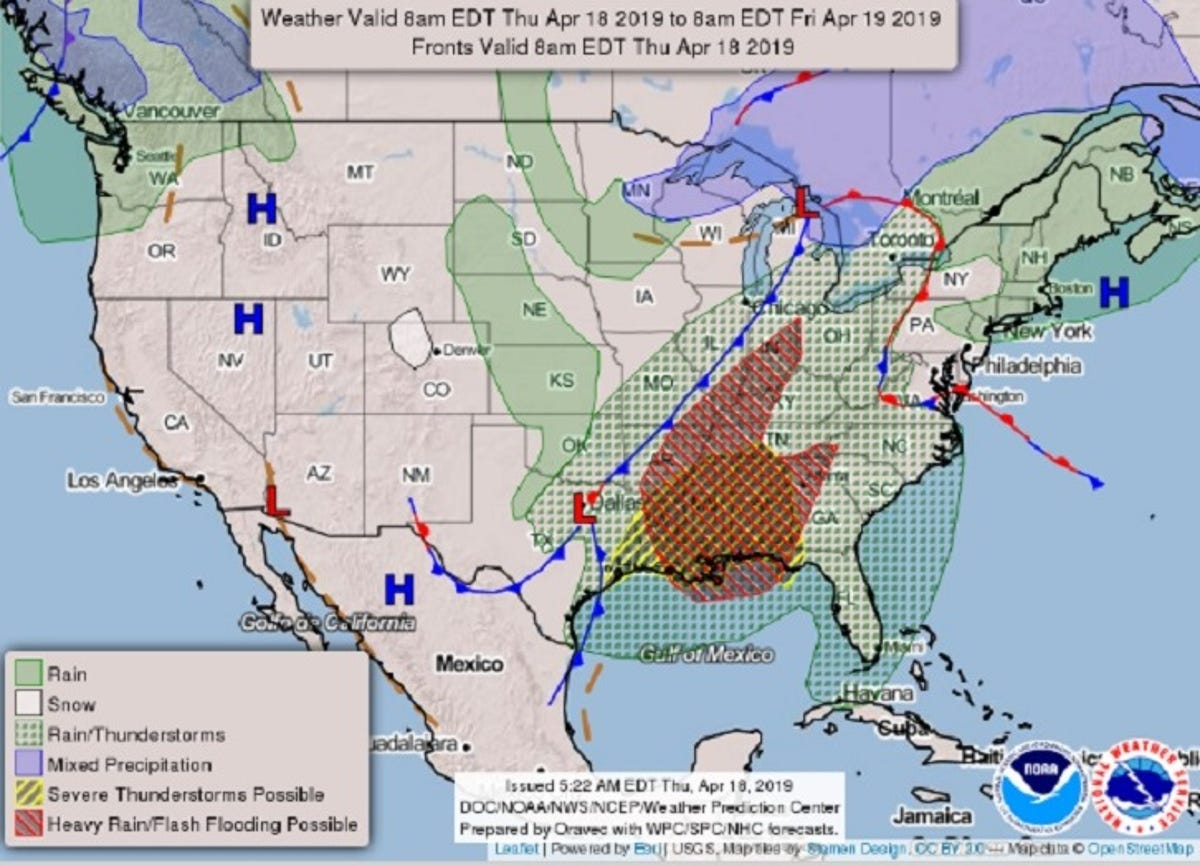 Weather forecast: At least 3 dead as severe storms move east