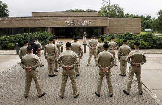 Monmouth County Police Academy daily drills.  File photo