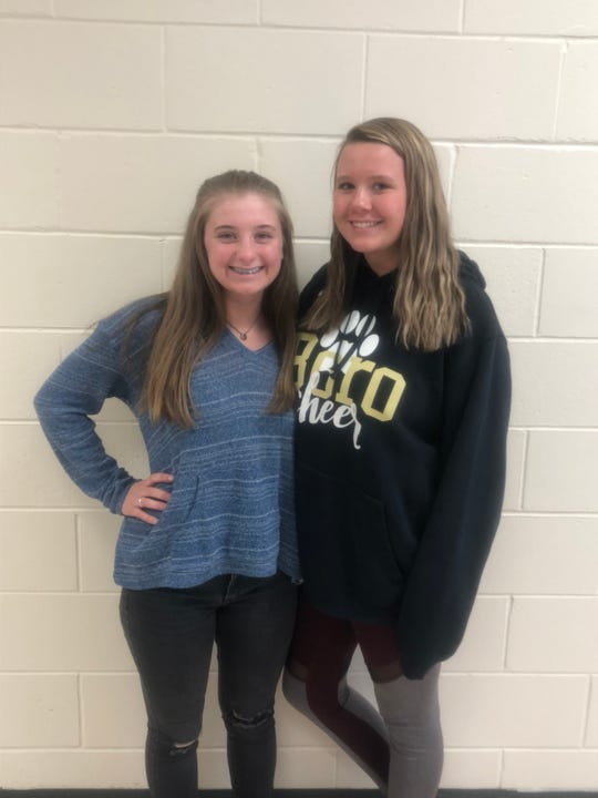 Student Voices video winners Brianna Gallagher and Taylor Stoner.