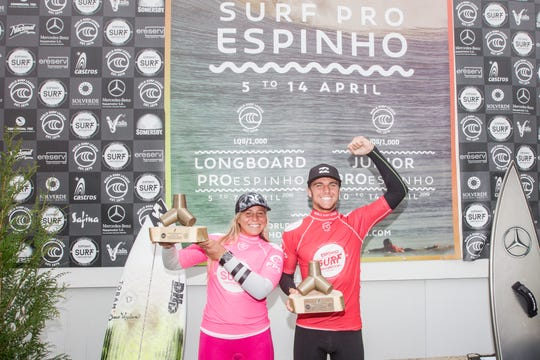 Winners Rachel Presti and Justin Becret in Portugal.