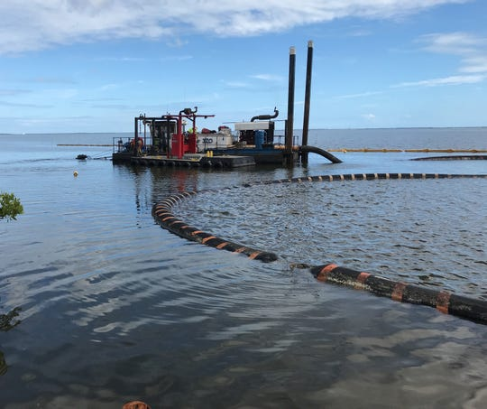 Projects to remove muck from the Indian River Lagoon are part of a multifacted approach to improve the condition of the lagoon.