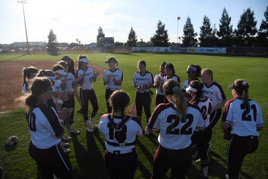 Calallen takes on Flour Bluff in a softball game that determines the District 29-5A championship, Thursday, April 18, 2019, at Flour Bluff.