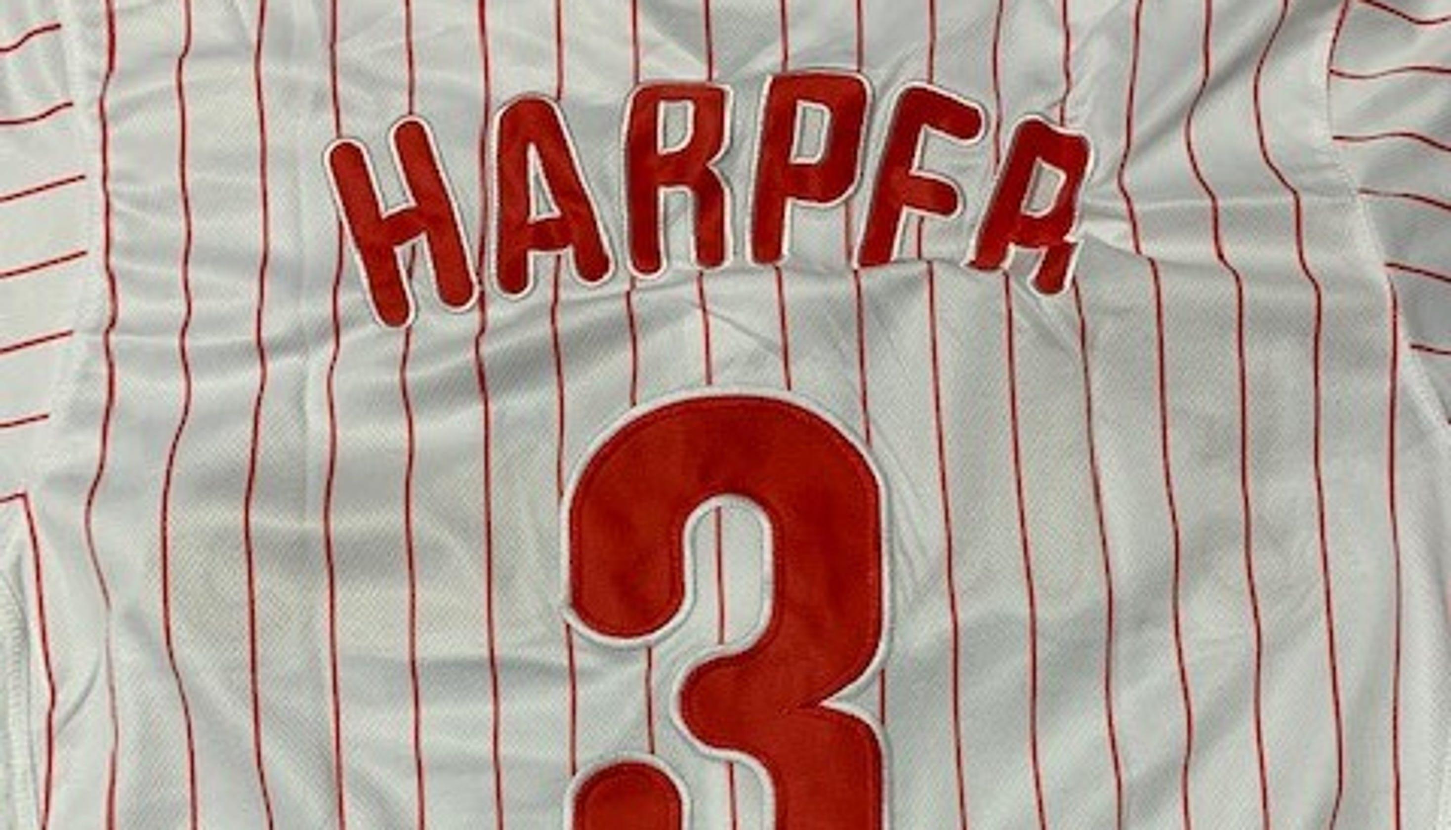 032d842b4 Foul ball  Customs officers catch counterfeit Bryce Harper jerseys