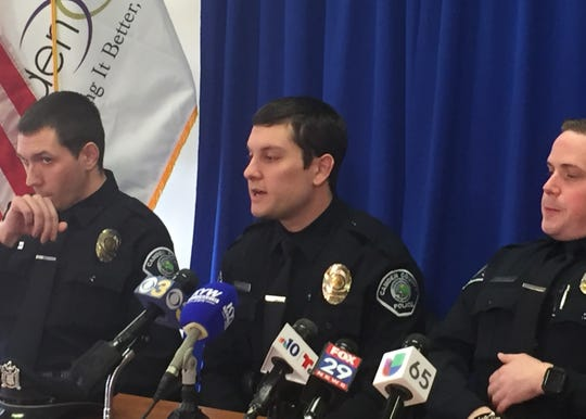 Camden County Police Officer Vincent Russomanno on Friday describes life-saving rescues after a fiery crash on Interstate 676 in Camden earlier this month.