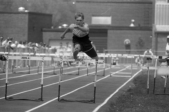 Paint Valley's Andy Adkins broke the meet and school record by posting a time of :14.8 in the 110-meter hurdles.