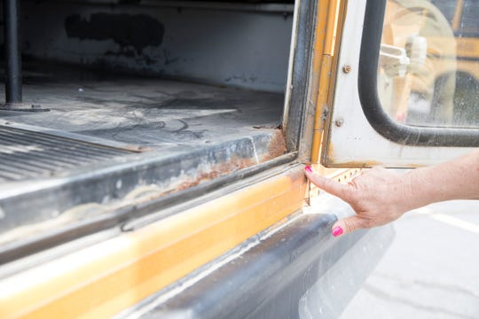 Rust caused by weather, brine, and other factors is one of the main issues plaguing area buses. Many will not pass inspection or have to require costly repairs that may include replacing large sections of the busses or the floor of the bus.