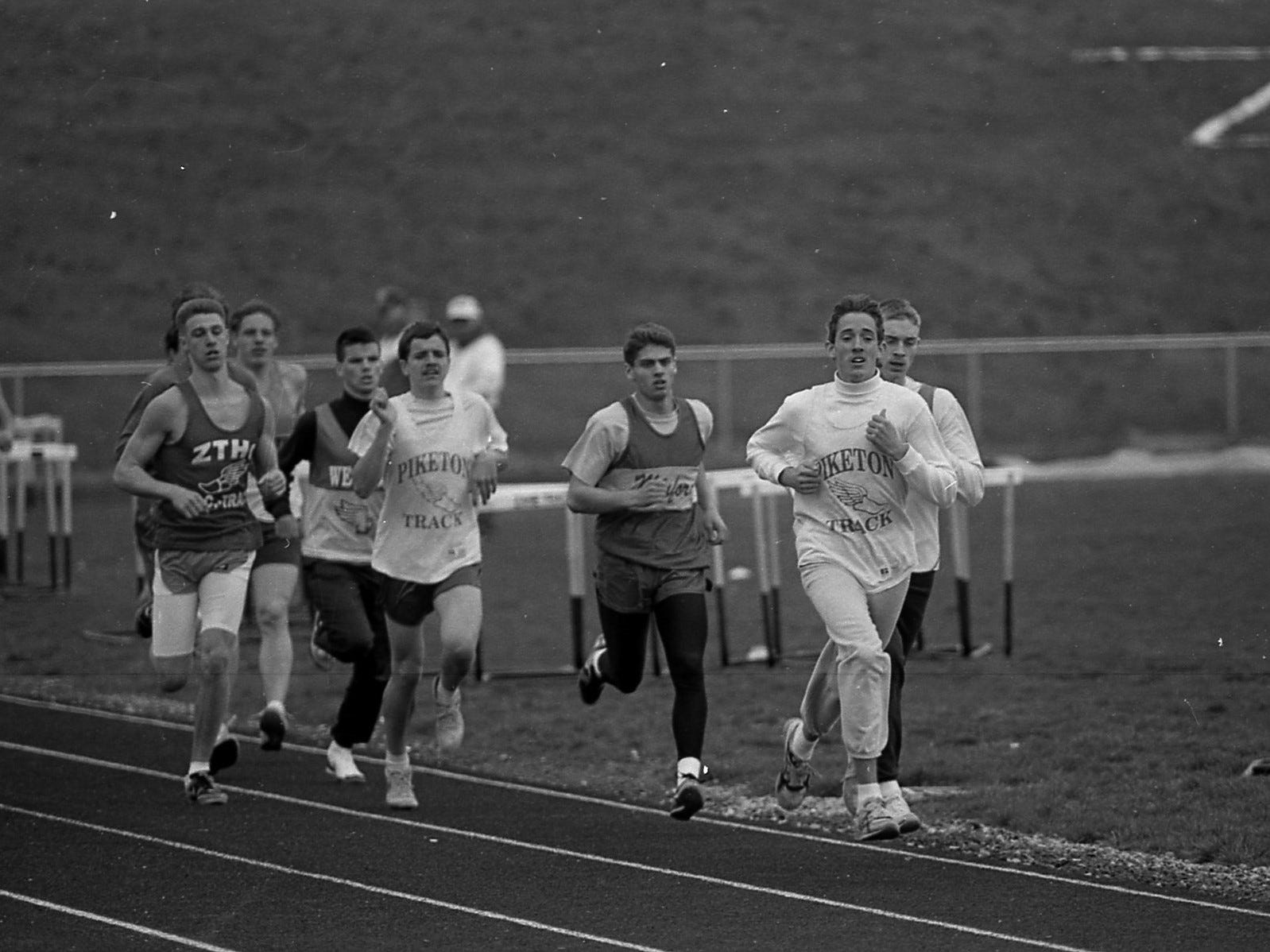 A track meet in April 1993.