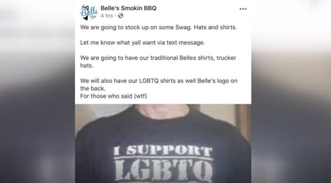 A Northern Kentucky barbecue food truck is getting a lot of heat after advertising its T-shirts on social media.