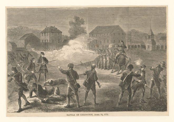 Battle of Lexington, April 19, 1775.