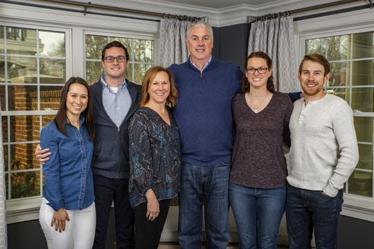 David and Laura Cramer will be honored as JDRF's Cincinnatians of the Year. Their daughter, Molly, was diagnosed with Type 1 diabetes 15 years ago and the family has been active with JDRF since. From left: Melissa Cramer, Alex Cramer, Laura Cramer, David Cramer, Molly Cramer and Ethan Nelson.
