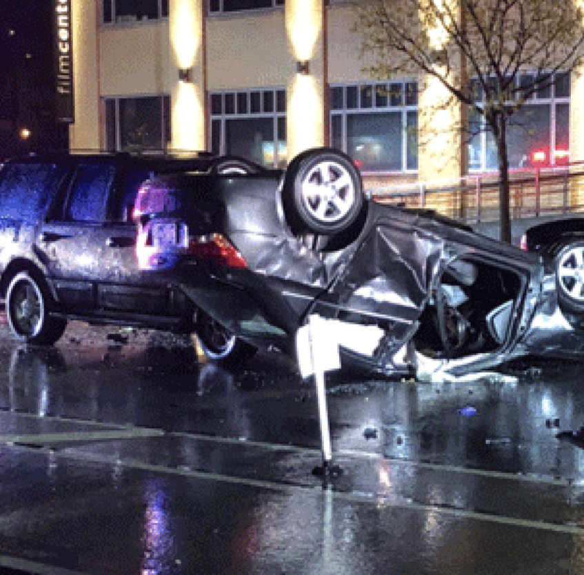 Good Samaritan hit by car while checking on driver of a flipped car