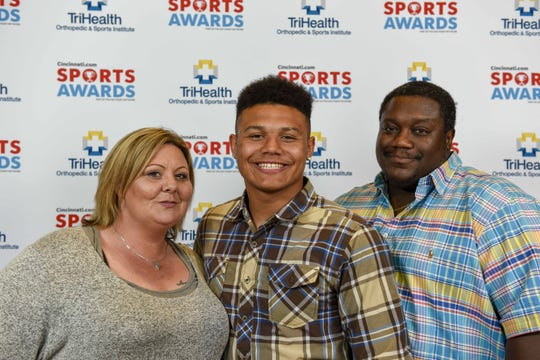 Colerain football's Ivan Pace Jr. and his parents walked the red carpet as part of the 2019 Cincinnati.com Sports Awards, presented by TriHealth Thursday, April 18 at Music Hall.