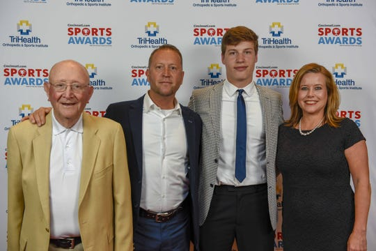 Campbell County basketball player Reid Jolly and family attended the 2019 Cincinnati.com Sports Awards, presented by TriHealth Thursday, April 18 at Music Hall.