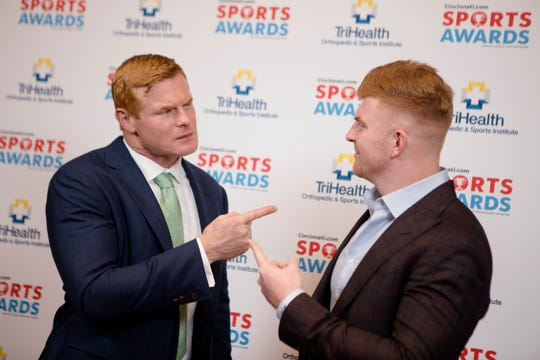Rocky Boiman, left, and Andy Dalton pose together during the Cincinnati.com Sports Awards, sponsored by TriHealth, on Thursday, April 18, 2019 at Cincinnati Music Hall in Cincinnati.