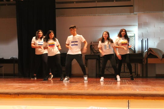 High school students performing at multicultural night