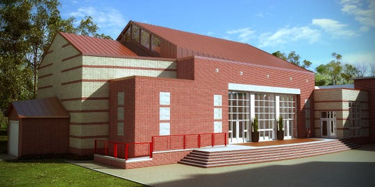 An architectural rendering of the new addition at Barlow School.