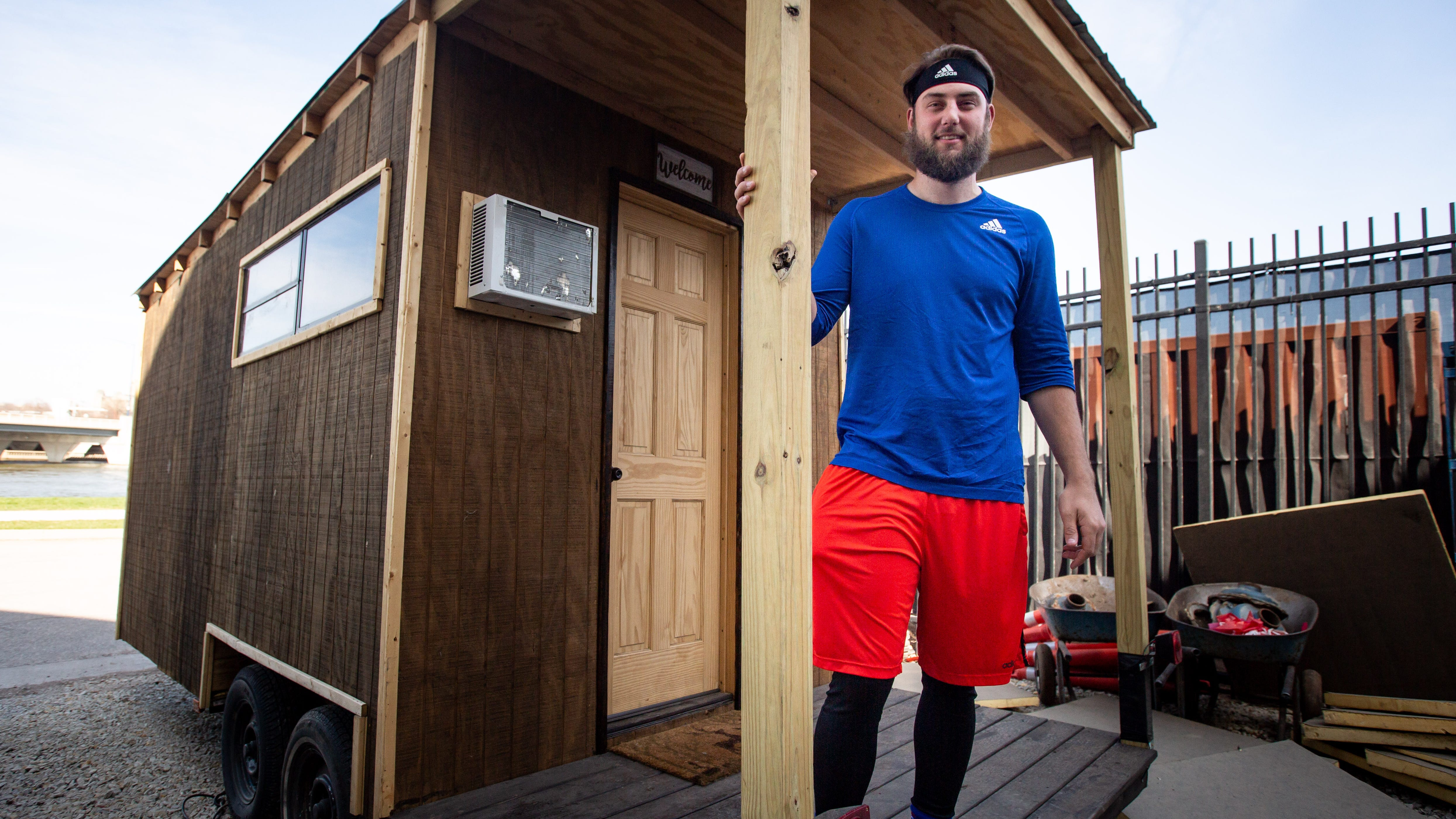 Iowa Cubs pitcher builds tiny house for baseball season